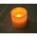Echtwachs LED gyertya 7,5x7,5cm, meleg fehér fény,