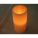 Großhandel Home & Living: Echtwachs LED Kerze 15,7x7,5cm, warmweißes Licht