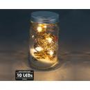 Üveg 13x8cm, 10 LED-es lámpával