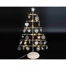 wholesale Lampes: Metal tree XXL white 46,5x26x12cm