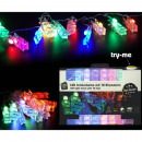 wholesale Light Garlands: Fairy lights brackets, plastic transparent 12LE