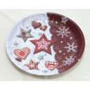 wholesale Crockery: Pastry dish metal 'stars / hearts' 25,7x3c