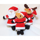 Plush figure in Christmas clothes 13x10x5cm