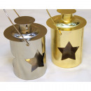 wholesale Wind Lights & Lanterns: Metal lantern 11x8cm, with big star