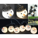 LED snowman light chain XL with 10 LED heads