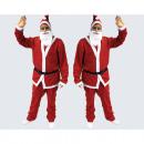 Santa kostym 5-delars set, storlek XL-XXL