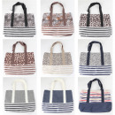 wholesale Bags & Travel accessories: Bag shopper XL women 10f. assorted 45x36cm