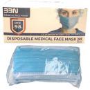 Großhandel Drogerie & Kosmetik: Mund-Nasen-Schutz 3 lagig BFE Typ IIR in Colorbox