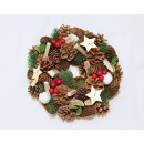 Christmas wreath 25cm with wooden stars
