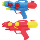 Water gun 28cm 2-color assorted with tank