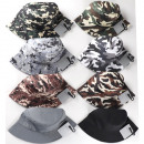 wholesale Fashion & Apparel: Cap sun hat Camouflage 8 times assorted Unisex