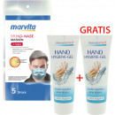 wholesale Other: Hygiene package-1 Marvita 5-pack masks + 2x75ml ge