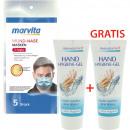 Paquet d'hygiène-1 masque Marvita 5-pack + gel