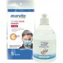 Pack d'hygiène-3 masques Marvita 5-pack + gel