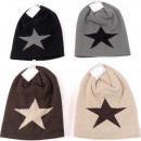 groothandel Kleding & Fashion: Winter dames gebreide muts met ster, bicolor