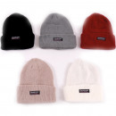 wholesale Headgear: Winter unisex knitted hat with turn-up