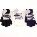 wholesale Gloves: Winter ladies knitted gloves with ringlets