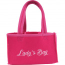 wholesale Miscellaneous Bags: Bag made of felt approx. 23x15x15cm with embroider