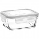 wholesale Kitchen Utensils: Glass container with lid 400ml, 13x9,5x6cm