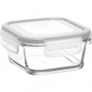 Glass container with lid 375ml, 11x11x6cm