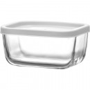 Glass container with lid 405ml, 12,5x9x6cm
