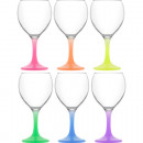 wholesale Drinking Glasses: Glass of wine / water glass set of 6 260ml, stem c