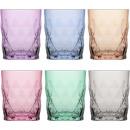 Glass tumbler set of 6! 345ml colored, gift box