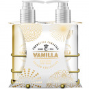 wholesale Household & Kitchen: Gift set Gold Vanilla 2tg in a great metal basket