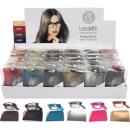 Großhandel Brillen: Lesebrille faltbar mit Etui 6-fach sort im Display