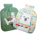 wholesale Wellness & Massage: Hot water bottle cover Llama 2- times assorted