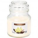 Scented candle in glass 7x10cm vanilla, 120g with