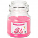 Scented candle in glass 7x10cm Rose, 120g with lid