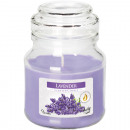 Scented candle in glass 7x10cm lavender, 120g with