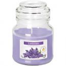 Duftkerze im Glas 7x10cm Lavendel, 120g mit Deckel