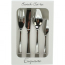 Cutlery set Exquisite 4-piece stainless steel 18/1