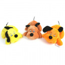 Plush dog 18cm lying in 3 different colors