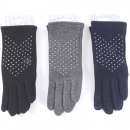 wholesale Fashion & Apparel: Winter ladies glove Jersey with rhinestones