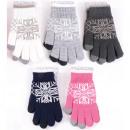 Guanto invernale da donna lavorato a maglia con mo