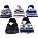 Winter knit hat children Norwegian with inner flee