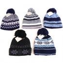 Großhandel Kopfbedeckung: Winter Strickmütze Kinder Norweger mit Innenfleece