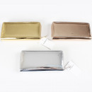 wholesale Wallets: Ladies wallet Glanz 3 colors assorted 19x9x2,5