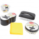 Shoe care set 4 pieces in plastic box