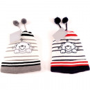 Winter kids knit hat with pompom & envelope