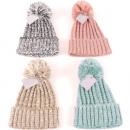 Cappellino invernale da donna con pompon e busta