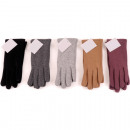 Winter women's gloves Jersey , touch function
