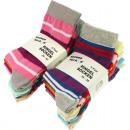 grossiste Vetement et accessoires: Chaussettes femmes 5er couleurs Ringelsocken assor
