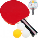 Table tennis racket Pro 2mm covering & 3 balls