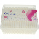 Cotton swab 200er corner can transparent coton
