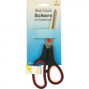 Scissors quality 19cm with red rubber strips