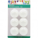 Table Tennis Balls Standard 6er white on card